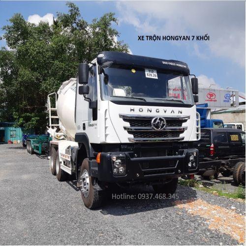 xe trộn bê tông hongyan 7 khối 2019 2020