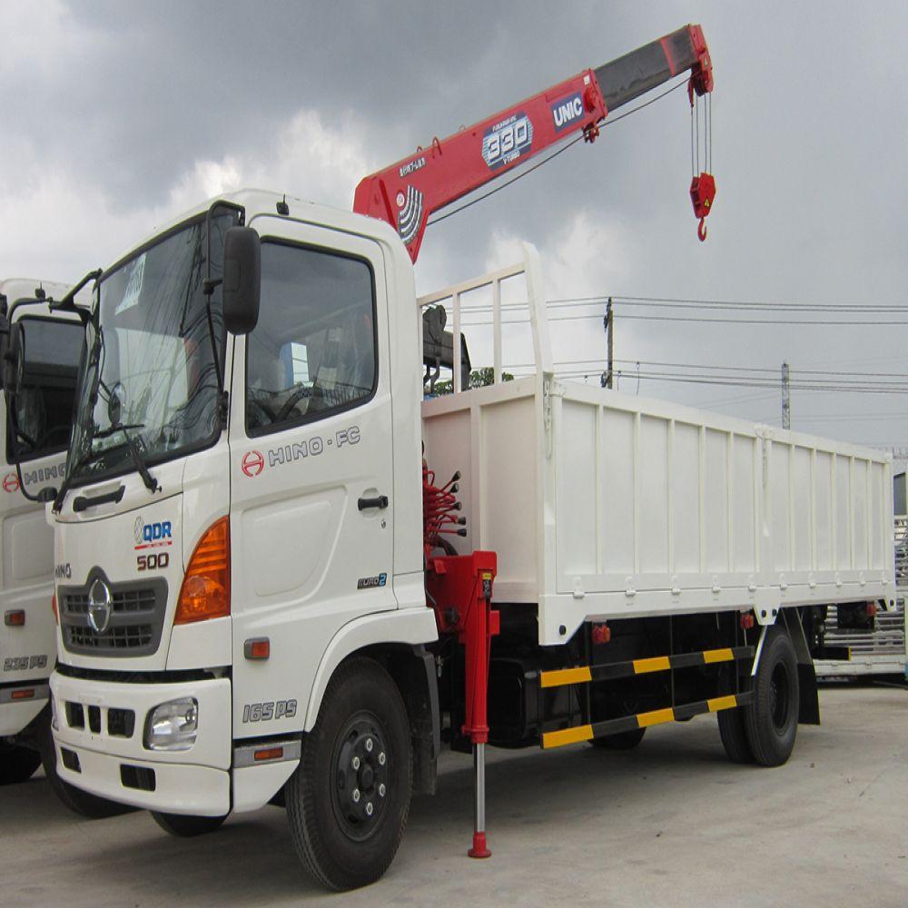Xe Cẩu Hino FC 8 tấn cẩu soosan hoặc unic